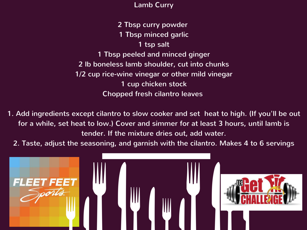 Recipe Lamb Curry Get Fit Challenge Fleet Feet Sports Madison