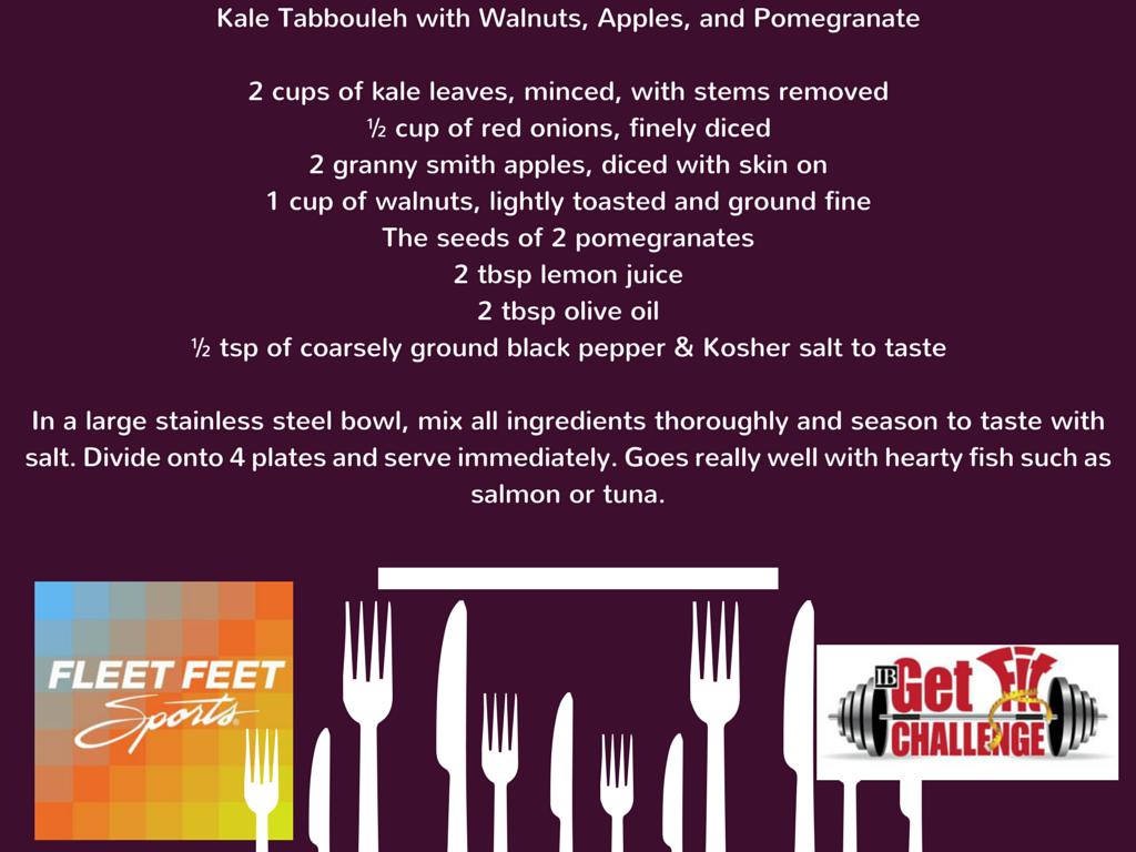 Recipe Kale Tabbouleh Get Fit Challenge Fleet Feet Sports Madison