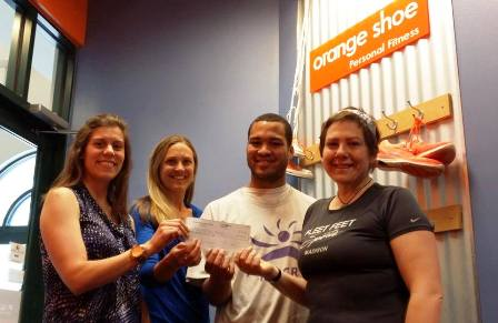 Orange Shoe Personal Fitness Donation to Allied Running Club Madison
