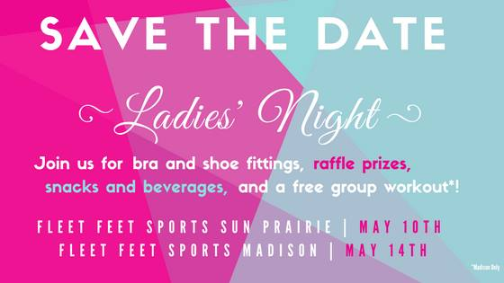 Ladies Night at Fleet Feet Sports Madison & Sun Prairie