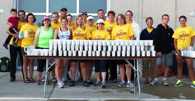 Madison Mini Marathon Aid Station by Fleet Feet Sports Madison