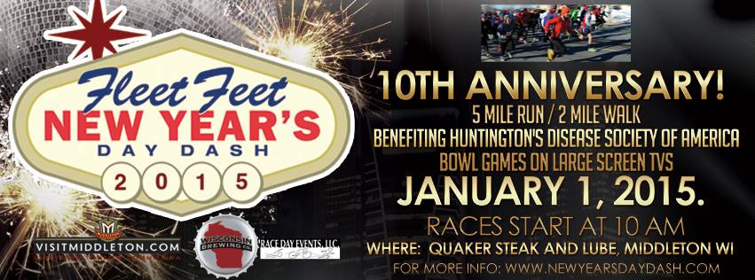 New Years Day Dash Sponsored by Fleet Feet Sports Madison