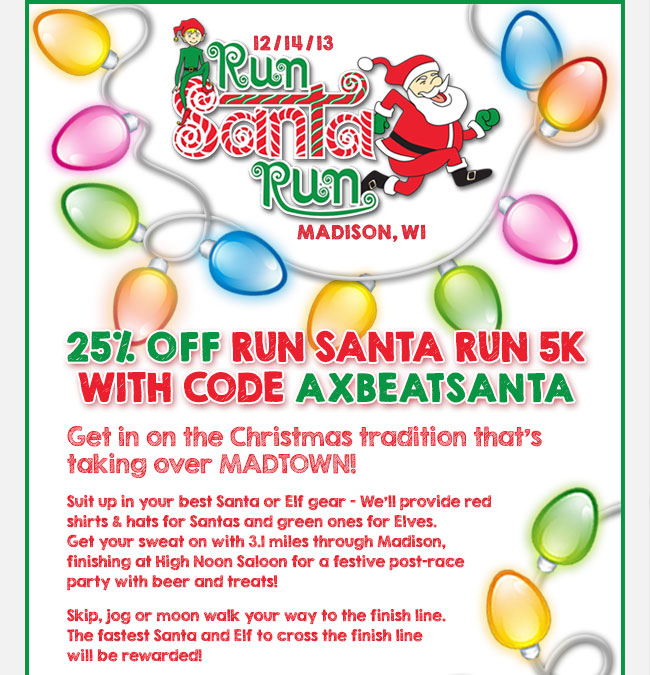 Run Santa Run 5K Discount-Fleet Feet Sports Madison